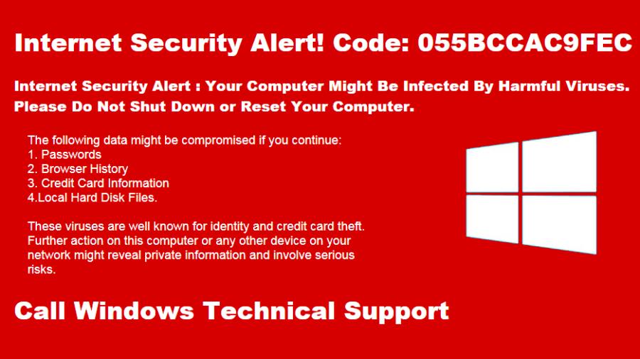 windows tech support scammer