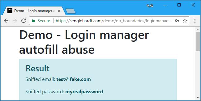 autofill password
